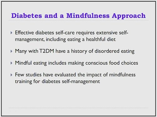 diabetes and mindfulness approach