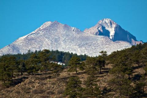 Last Year We Glimpsed Mount Meeker (left) and Longs Peak (Canon 7D with 100-400mm lens at 260mm, f/14, 1/1600, ISO 800)