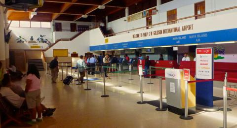 The International Airport in Belize City Felt Relaxed by American Standards