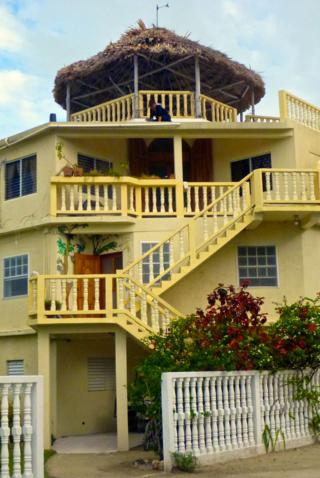 The Lazy Iguana B&B is the Tallest Building on the Island