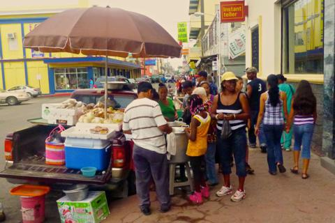 A Typical Street Scene in Belize City