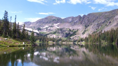 Jasper Lake, 10,800 feet and One Trail Mile Below Devils Thumb Lake