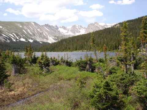 Long Lake Below the Indian Peaks