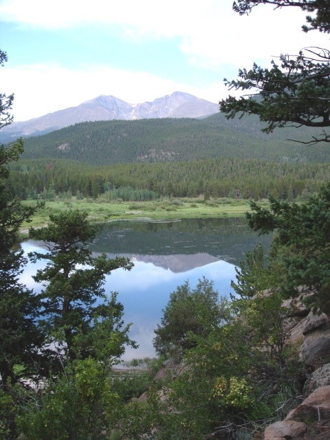 Longs Peak from Lily Lake
