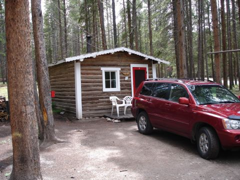 "My Tiny Cabin and ""Suzy,"" my Toyota Highlander"
