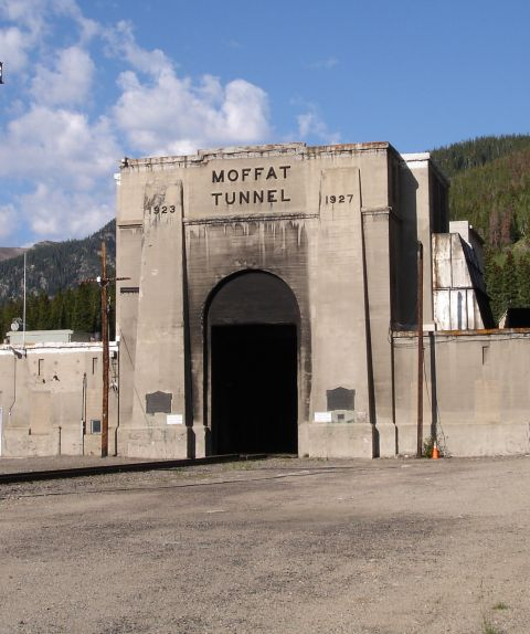 East Portal of the Moffat Tunnel through the Rockies