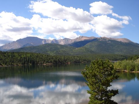 Looking up to Pike's Peak