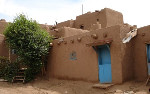 Close-up of the Taos Pueblo