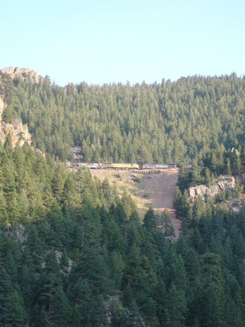 Train from Moffat Tunnel through Eldorado State Park last September