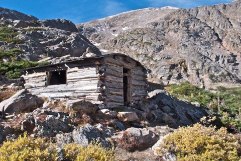 Abandoned Miner's Cabin at James Peak Lake