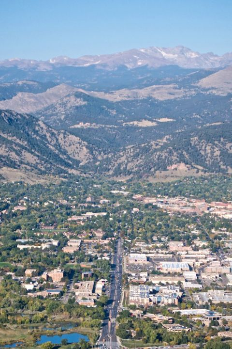 Looking Up Arapahoe Avenue to Downtown Boulder