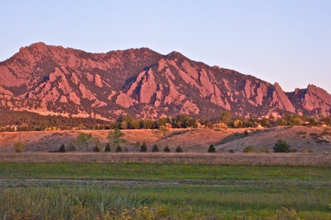 The Flatirons at First Light