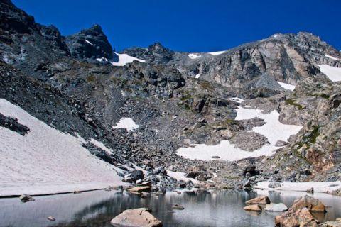 Pool at Isabelle Glacier, Elevation 12,430 Feet