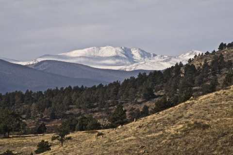 Snow Covers the Rockies, Which are Twice as High as Mount Galbraith