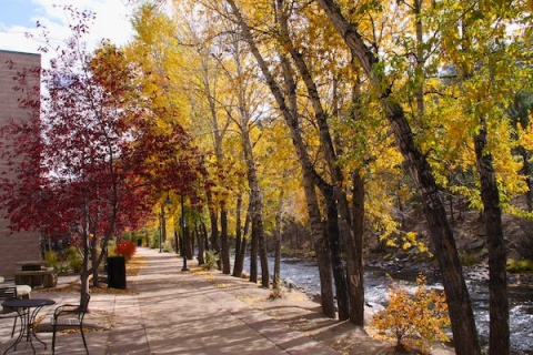 The Estes Park Promenade Along the Big Thompson River
