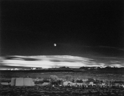 """Moonrise Over Hernandez, New Mexico,""by Ansel Adams"