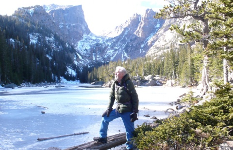 At Dream Lake Below Hallett Peak