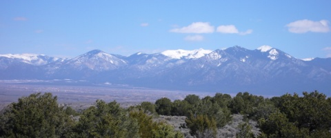 The Sangre de Christo Mountains around Angel Fire