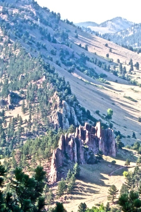 Flagstaff View of Fountain Rock Formation