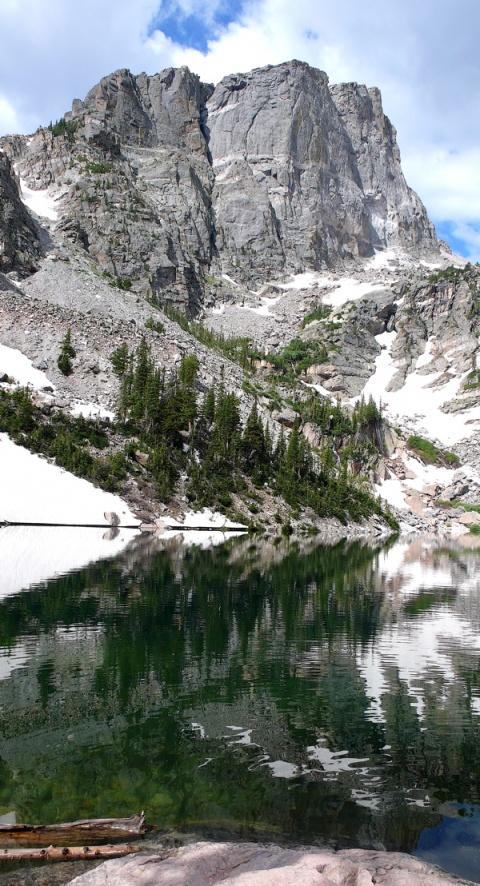 Hallett Peak Above Dream Lake