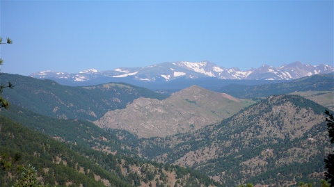 Some of the Indian Peaks from the Range Front Trail on Flagstaff Mountain This Morning