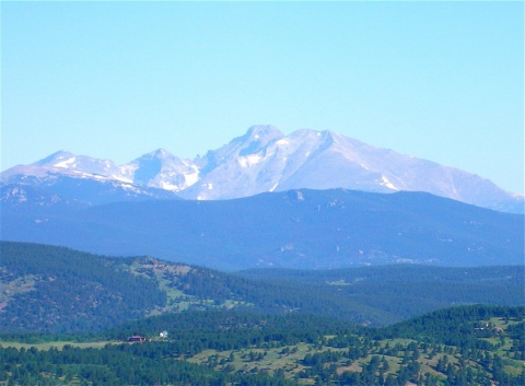 Longs Peak from Sugarloaf Mountain