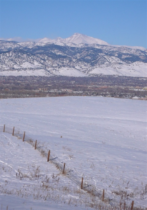 Longs Peak over Boulder Valley