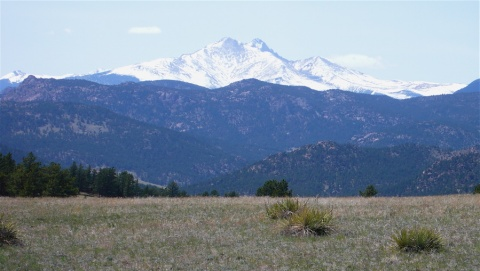 """Oh, my God, it\'s Longs,\"" I Exclaimed! (It\'s Also Meeker Peak at the Center Left)"