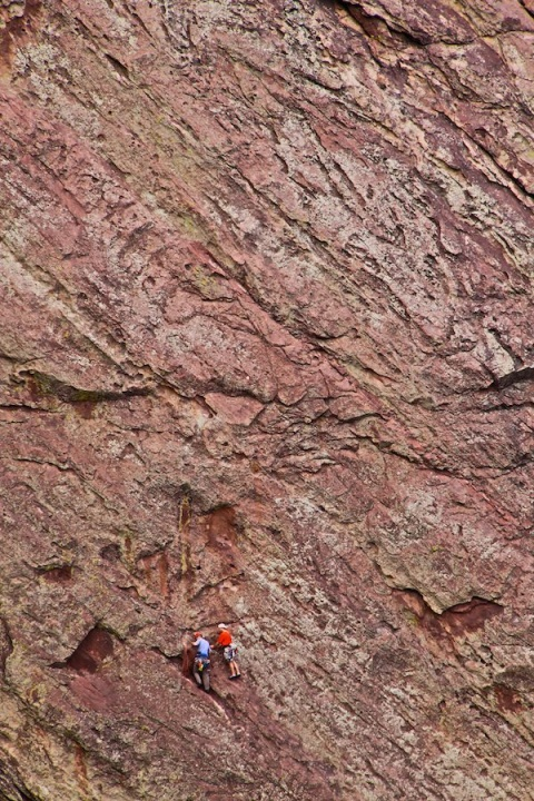 Climbers on the Canyon Wall