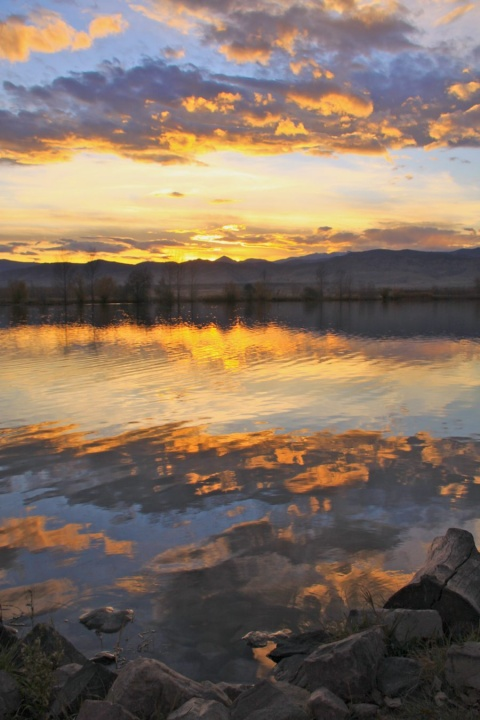 Coot Lake at Sunset