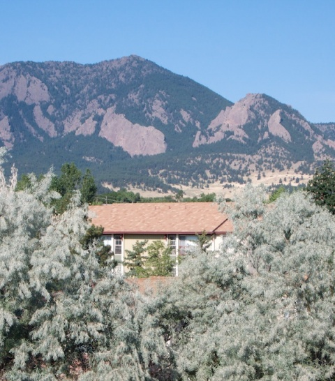 My Apartment Building and Green Mountain from South Campus