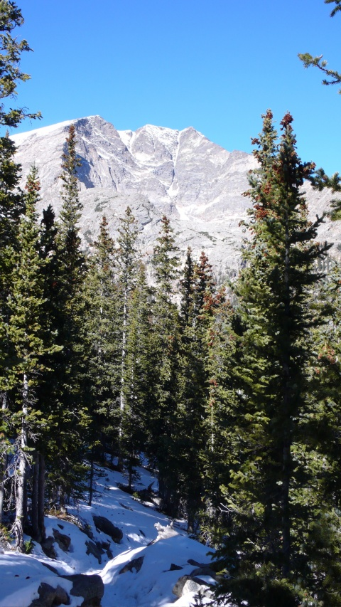 The Trail was Covered with Snow and Ice. Do You See the Y on Ypsilon Mountain?