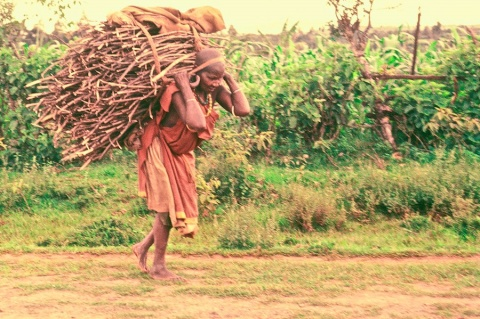 A Kikuyu Woman and Her Load