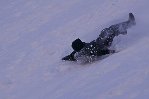 Sliding Down Backward