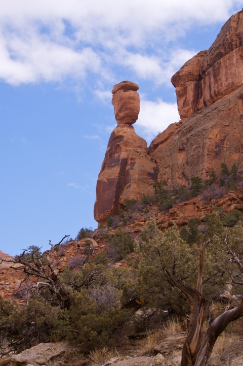 Balanced Rock in the Colorado National Monument is Perched on its own Pedestal