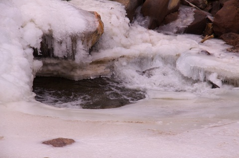 Ice in South Boulder Creek