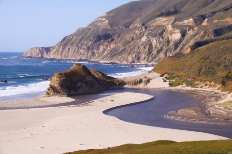 A Creek along the Pacific Coast Highway