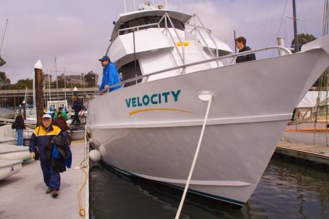 John Disembarks from M/V Velocity