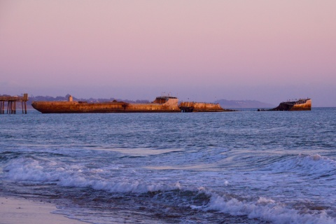 The Cement Ship at Sunset