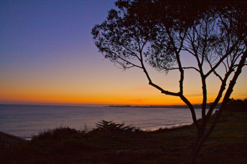 At the Cliff\'s Edge at Dusk