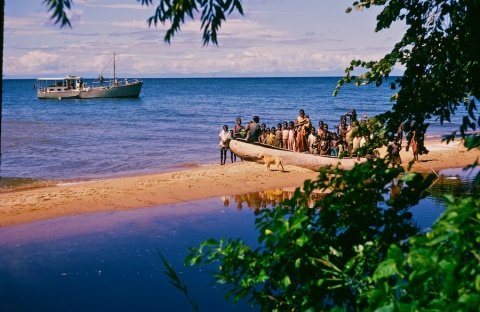 My Ship and the Welcoming Committee at a Malawi Village