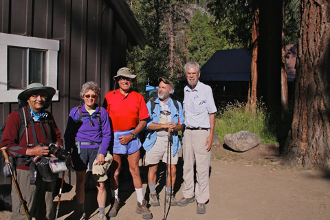 RC, Susan, Marv, John, and I Before Starting our Trek