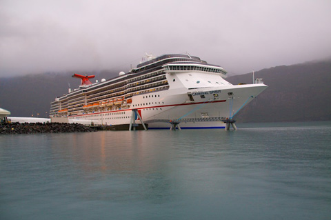 Cruise Ship Docked at Whittier
