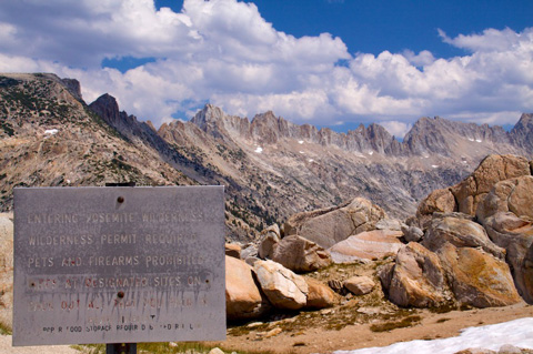 Reentering Yosemite Wilderness at Mule Pass