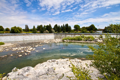 Idaho Falls on the Snake River