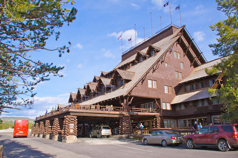 Main Entrance to Old Faithful Inn