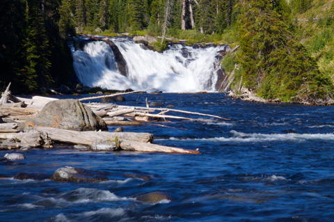 Lewis Falls, Named for Meriwether Lewis of Lewis and Clark Fame