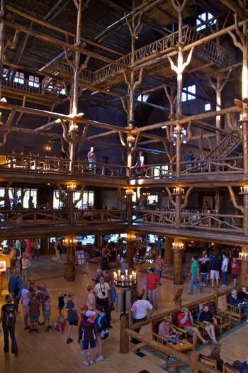 The Lobby of Old Faithful Inn