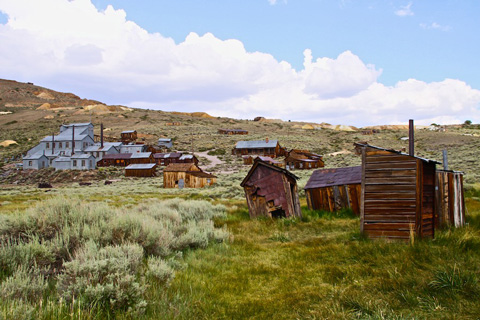 A View of Some Mines, the Mill, and a Few of the Remaining Bodie Buildings
