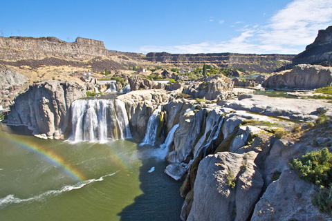 The Setting of Shoshone Falls
